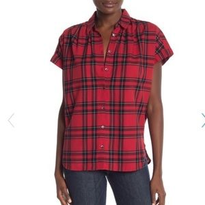 MADEWELL black and red flannel top